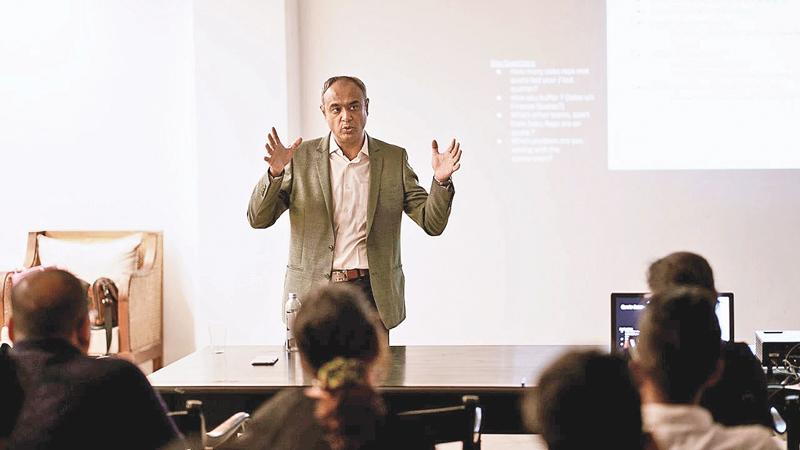 Go-to-market workshop conducted by Senior Vice President at Linear Squared, Mohit Pande.