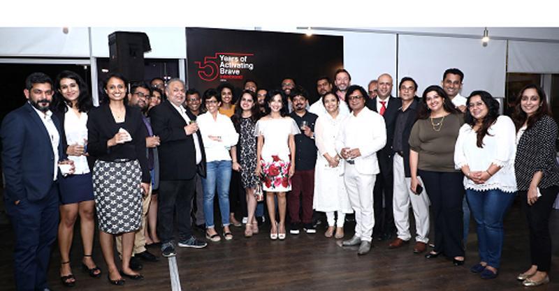 Director Interbrand Sri Lanka, Anusha David and Interbrand's Global Head of Design, Borja Borrero with the Interbrand India team