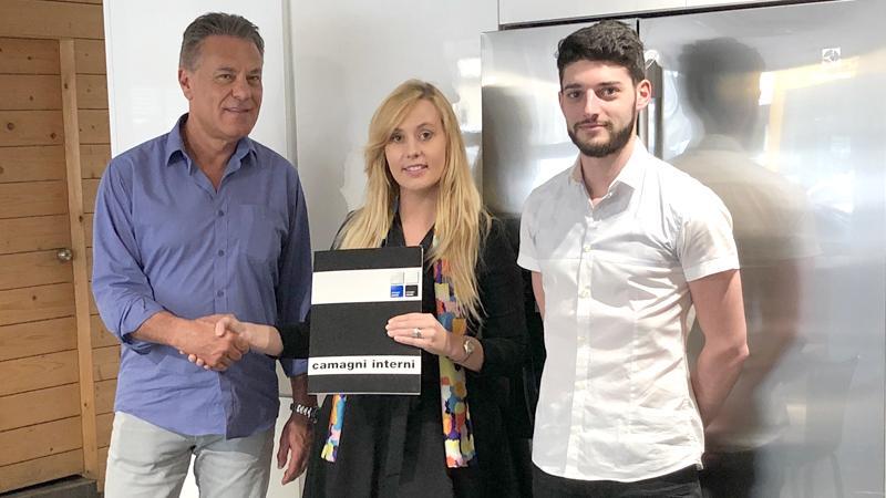 From left: Massimo Camagni - Owner of Camagni, Sabina Karunanayake - Executive Director Serenia Residences and Stefano Bellasio, Showroom Manager.