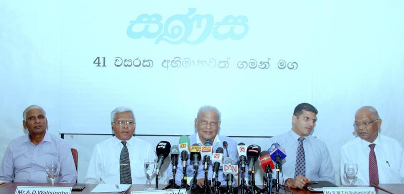 The head table at the press briefing. Pic: Chaminda Niroshana