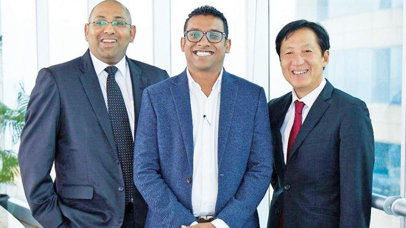TAD Group founding Directors (from left): Dhanuka Samarasinghe, Atheeq Ansar and Toshiaki Tanaka.