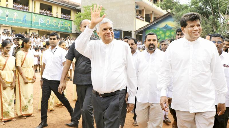 Sri Lanka must adapt to the latest technologies to be on par with the world economy and setting up smart classrooms is just one step forward in this journey, Prime Minister Ranil Wickremesinghe said. Addressing a crowd during an opening of two buildings in schools in Ganemulla Hemamali Maha Vidyalaya and Galahitiyawa Central College in Gampaha on Thursday (28) the Prime Minister said the government has taken measures to create a digital economy through a digital education system.   Distribution of tabs to A