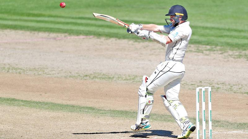 New Zealand's Kane Williamson pulls a ball on his way to a double century (AFP)
