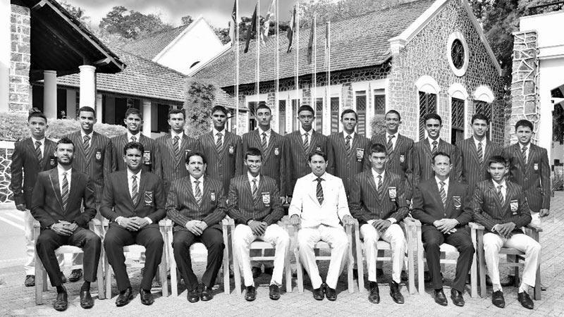 Richmond College squad: Seated from left: Lakmal de Silva (Asst. Coach), Dhammika Sudarashana (Head Coach), S.S. Nagahawatte (Asst. Principal), Thaveesha Abhishek (Captain), Sampath Weragoda (Principal), Adithya Sirwardena (Vice captain), S.R. Nanayakkara (POG & MIC), Sandun Mendis. Standing from left: Nimnada Kirindage, Dimuth Sandaruwan, Amshi de Silva, Dilum Tillekaratne, Kavindu Nirmana, Sanul Sandeesh, Kalpa Nethsara, Vinuja Kiriella, Achintha Ishiwara, Sammu Vimuth, Bhanuka Manohara, Chamath Dilsara