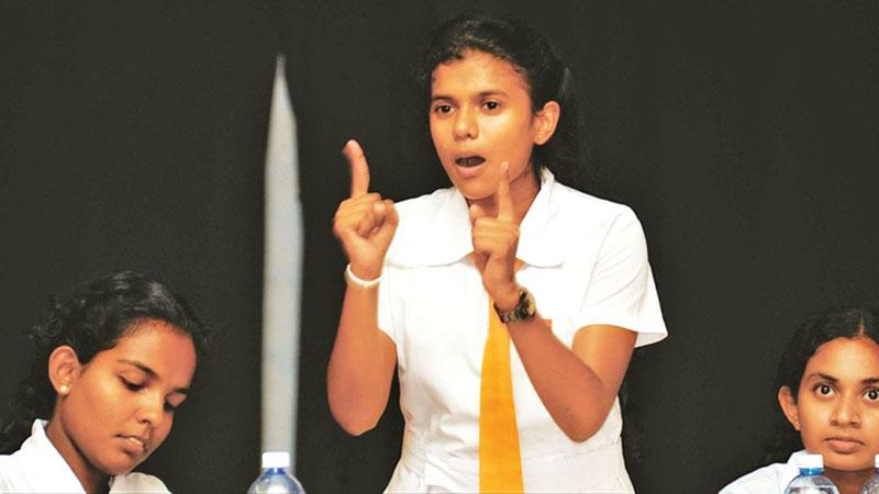 Children must be taught to get rid of stage-phobia from the very beginning