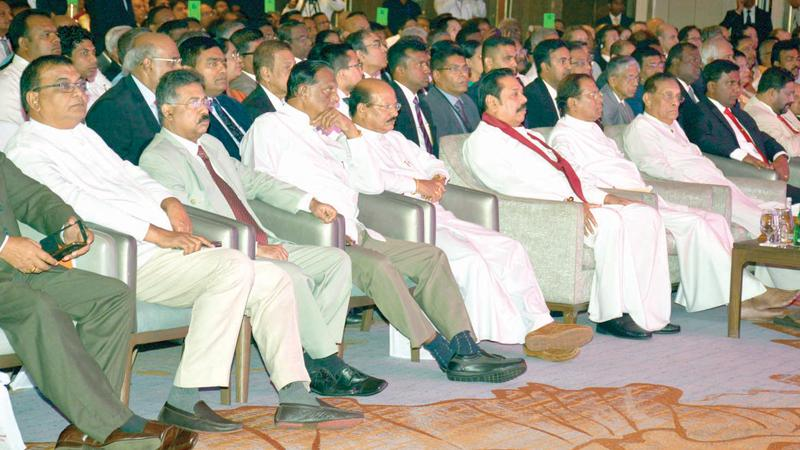 Ex President Rajapaksa and others take front row
