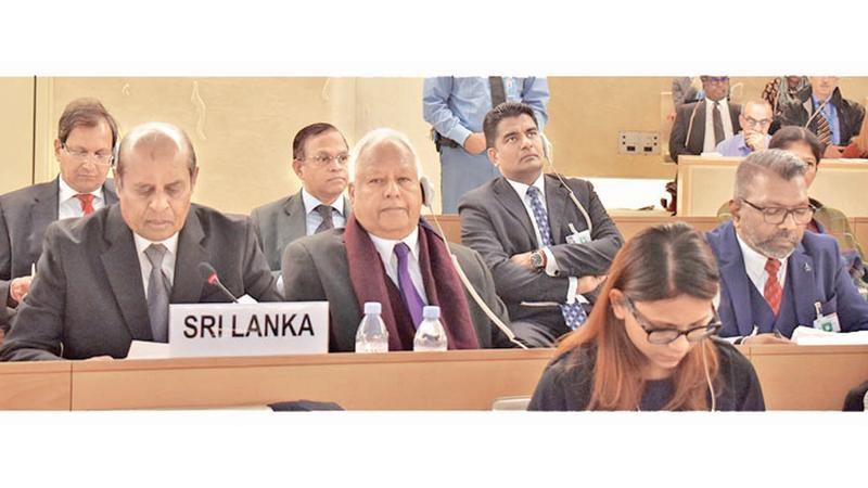 The Sri Lanka delegation at UNHCR meeting in March 2019