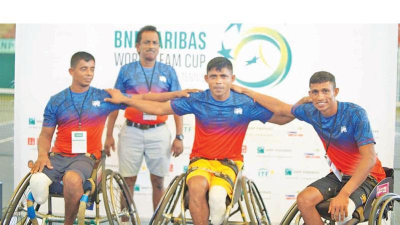 D. Gamini, DS Dharmasena and RALS Ranweera with coach Jagath Welikala