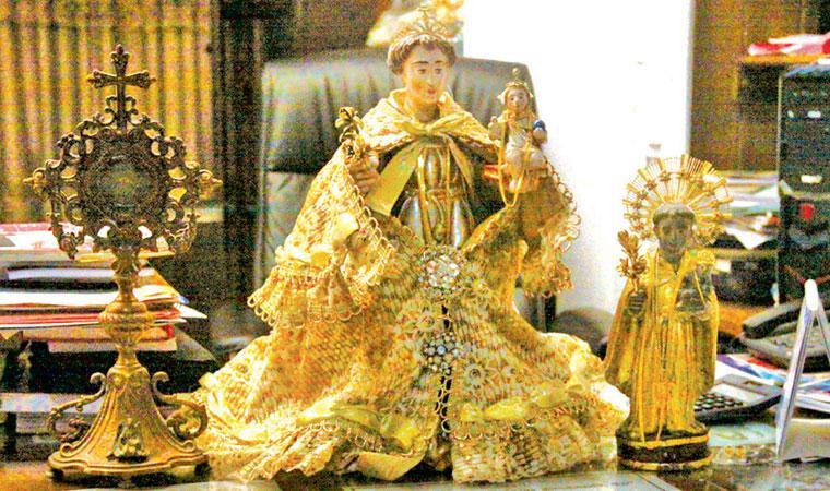 The venerated statue of St Anthony, Kochikade church