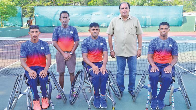 From left: Nadeeka Dharmasena, Jagath Welikala, D. Gamini, Iqbal bin Isaack and Prasad Ranaweera