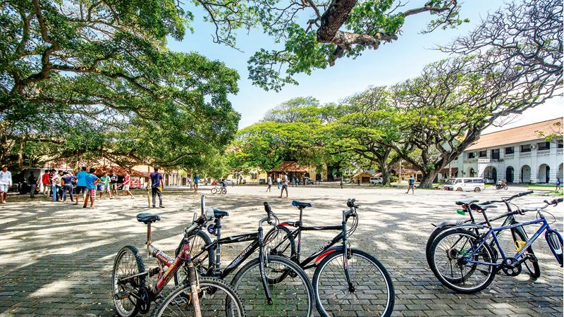CALMS THE SOUL: Youth of all communities play cricket at Galle Fort