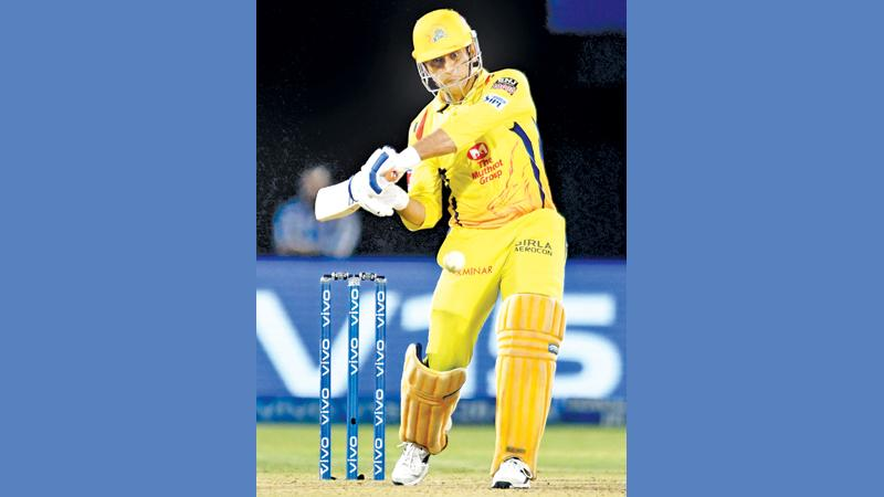 Chennai Super Kings cricket captain Mahendra Singh Dhoni  plays a shot (AFP)