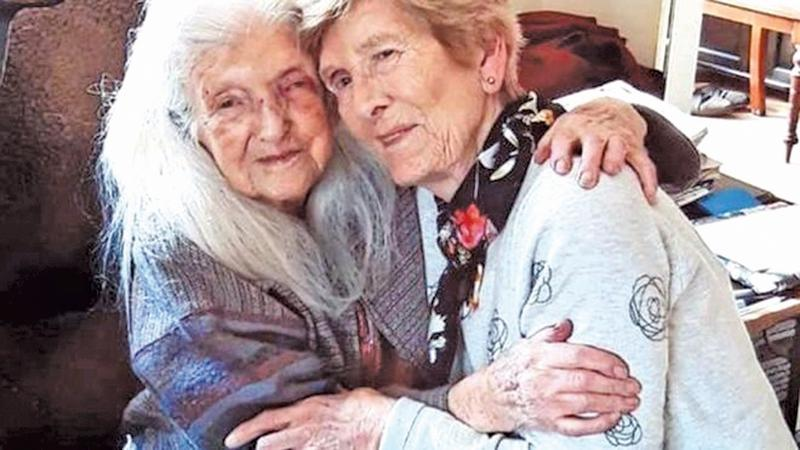 Eileen Macken meets her 103-year-old mother for the first time
