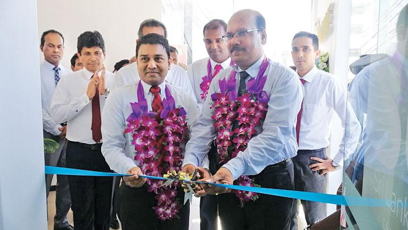 SLIC officials opene the branch