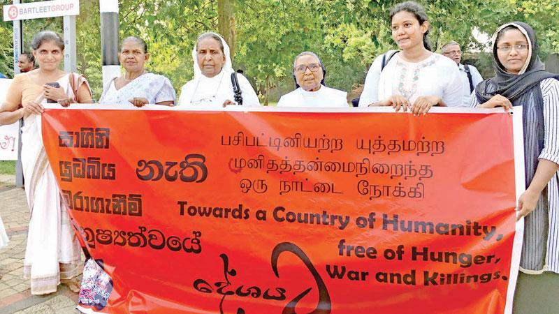 An anti terrorism rally in Colombo