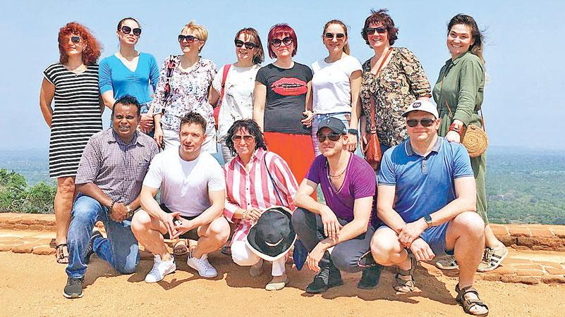 The Russian tour operators at Sigiriya
