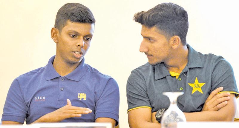 Sri Lanka skipper Nipun Dananjaya and Pakistan captain Rohail Nazir