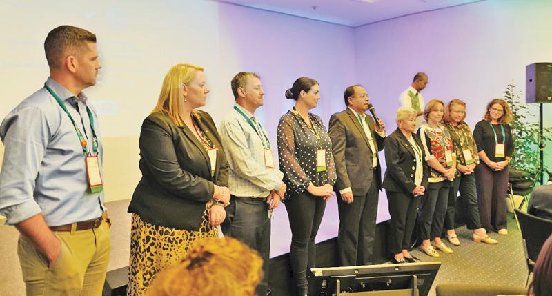 Chairman, SLCB, Kumar de Silva addressing ICCA Asia-Pacific delegates at IMEX Exhibition in Frankfurt, Germany last week.