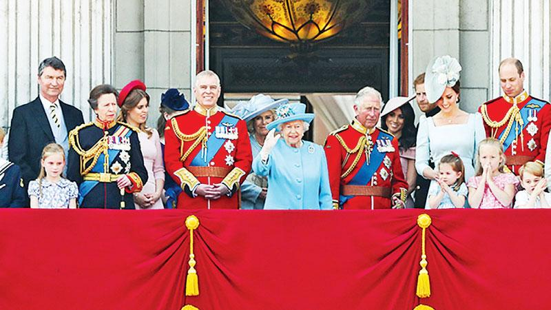 Her Majesty is joined by members of the royal family on her official birthday