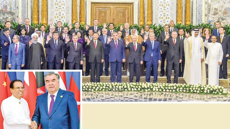 President Maithripala Sirisena addressed the 5th Summit of the Conference on Interaction and Confidence Building Measures in Asia (CICA) in Dushanbe, Tajikistan. Tajikistan President Emomali Rahmon presided over the Conference and several Heads of State including Chinese President Xi Jingping, Russian President Vladimir Putin, Turkish President Tayyip Erdogan and Iranian President Hassan Rouhani attended the Conference. (Pix by: Sudath Silva)