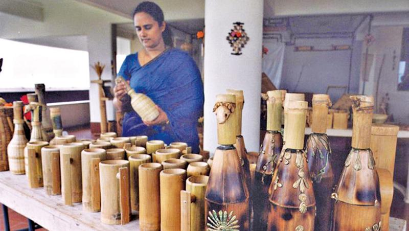 Bamboo art in India. Pic: Courtesy The Hindu