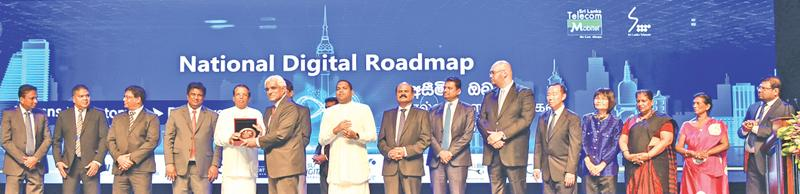 The Central Bank of Sri Lanka was awarded the Presidential Award  for Digital Excellence at the launch of the National Digital Roadmap by  President Maithripala Sirisena. Governor, Dr. Indrajith Coomaraswamy  accepted the award on behalf of the Central Bank.
