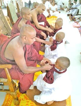 The ordination ceremony in progress. Pic: H.L.Sunil Shantha