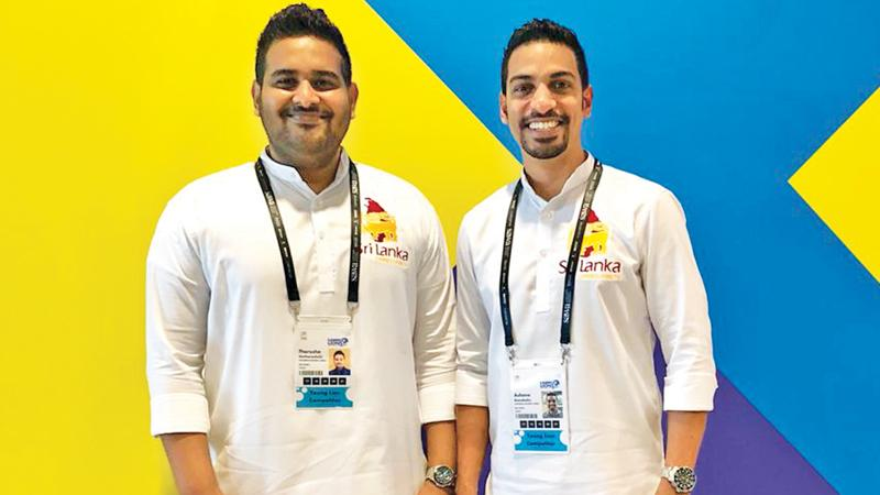 Ashane Ranabahu and Tharusha Hettiarachchi at the Cannes Young Lions Marketers Competition 2019.