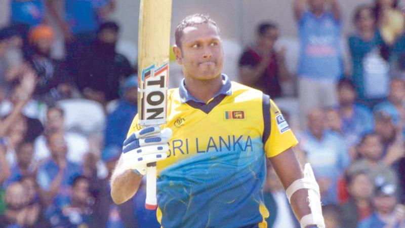 Angelo Mathews reacts after  scoring his century  (Pix: Kamal Jayamanne)