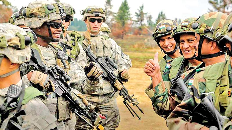 US forces in India during the annual bilateral training exercise called Yudh Abhyas, designed to promote cooperation between the two armies while sharing training, cultural exchanges, and building joint operating skills