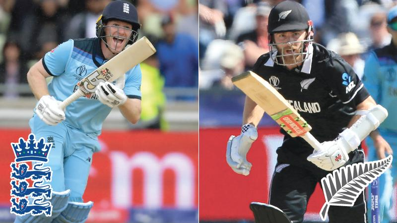 England  captain  Eoin Morgan and New Zealand captain  Kane  Williamson
