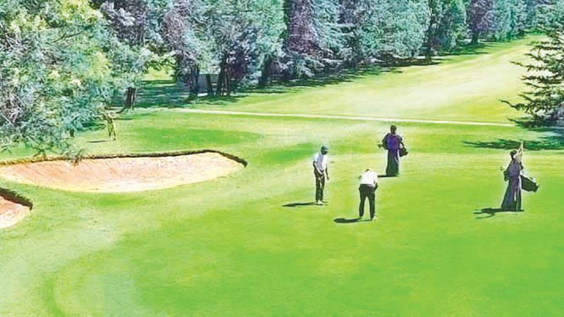 The Nuwara Eliya golf course