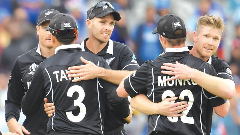 New Zealand's players celebrate victory into the final (AFP)