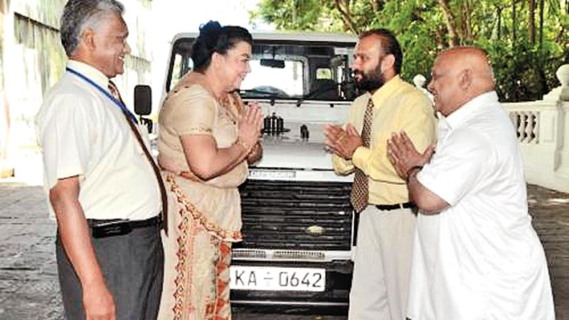 Shiranthi and the ill fated vehicle
