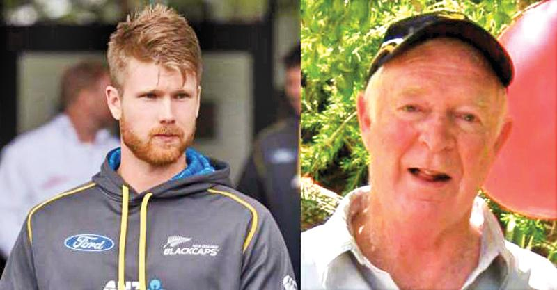 Jimmy Neesham (left) and his former coach Dave Gordon