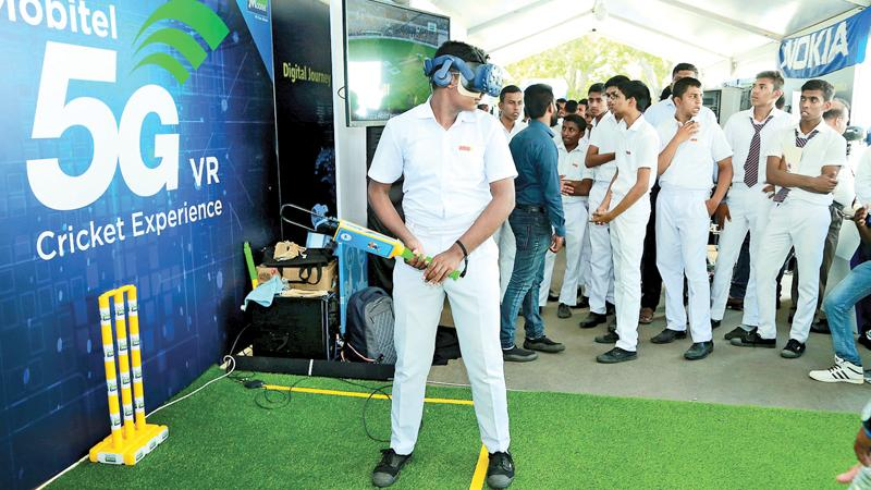 Virtual Reality based cricket by Mobitel