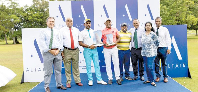 From left: RCGC Vice Capt Navin de Silva, Pradeep Moraes -Director Indocean Developers, winner Anura Rohana, first runner-up N. Thangaraja, second runner-Up Mithun Perera, RCGC Captain Shiran Fernando, Mumtaz Niyasdeen - Head of Business Development Indocean Developers and RCGC president Sanjiv Vairavanathan