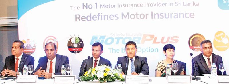 Sri Lanka Insurance officials- from Left to Right- Business Development Chief Officer Rukman Weeraratne, Chief Information Officer Aloka Jayawardane, Managing Director Dushyantha Basnayake, Chief Executive Officer Chandana L. Aluthgama, General Insurance Chief Officer Ruanthi Gooneratne and Deputy General Manager (Motor) Lalith De Silva.  Pix by Sulochana Gamage