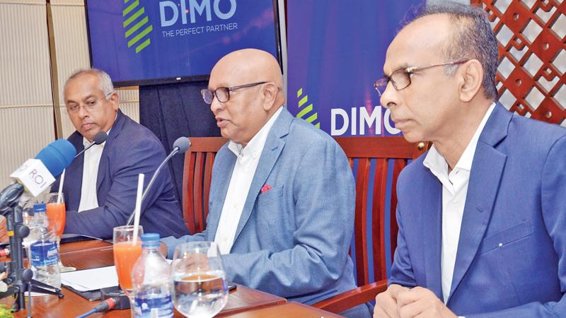 Chairman/Managing Director, DIMO, Ranjith Pandithage speaks to the media.