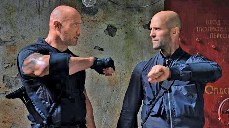 Dwayne Johnson and Jason Statham in 'Hobbs & Shaw'