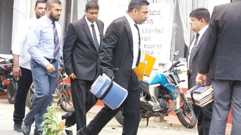 Dr. Shihabdeen after  the court hearing on Friday (9)