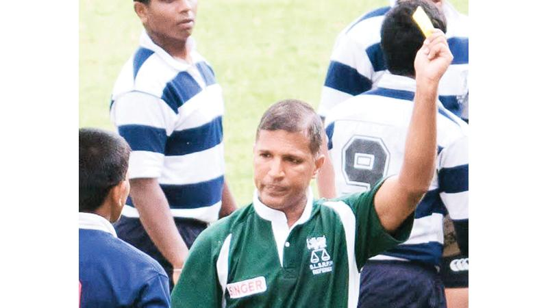 Dilroy Fernando at one of his past school matches