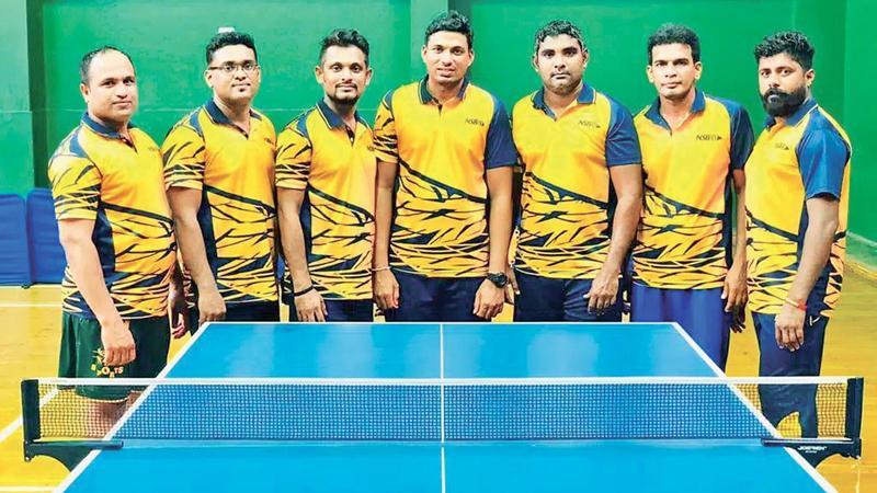 NSB players (from left): Akalanka Seneviratne, Tharanga Wickramarachchi, Nilusha Hewawitharana, Mithun Weragoda, Chamila Thilanga, Lakmal Dassanayaka and Prabath Sameera