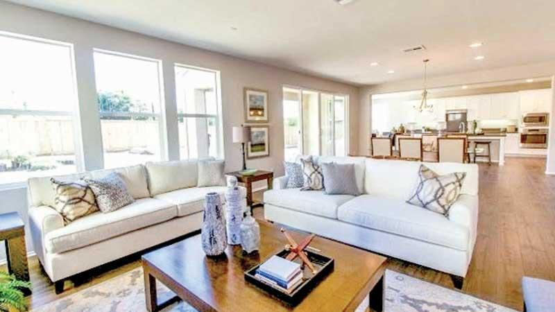 Photograph shared by State Minister Ranjan Ramanayake of the four bedroomed Los Angeles home.