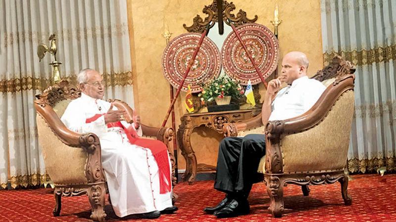His Eminence Malcolm Cardinal Ranjith with Milinda Moragoda