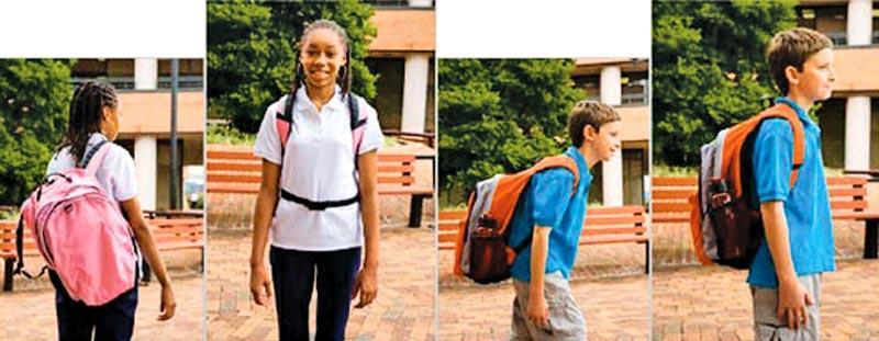 Always wear both shoulder straps. Adjust the shoulder straps so the backpack is high on your back