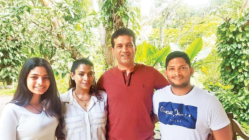 The Odayar family: From left: Anishra, Bonita, Reza and Avishka