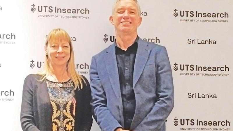 UTS Insearch Sri Lanka Principal Alison Hiscox (left) with UTS Insearch Business Development Officer Peter Harris.