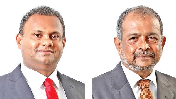 Chairman G. A. R. D. Prasanna and the Director/CEO Nimal Tillekeratne.