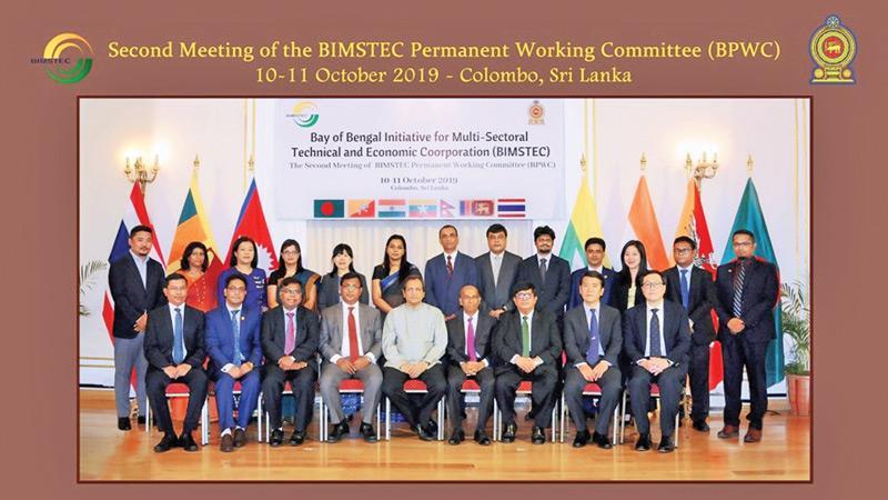 Representatives from Bangladesh, Bhutan, India, Myanmar, Nepal, Sri Lanka, Thailand and the BIMSTEC Secretariat at the second meeting of the (BIMSTEC) Permanent Working Committee